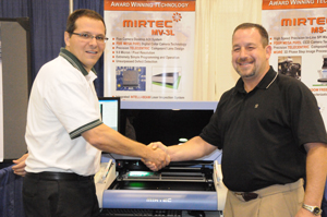MIRTEC SELLS AWARD-WINNING MV-3L DESKTOP AOI SYSTEM At SMTAI