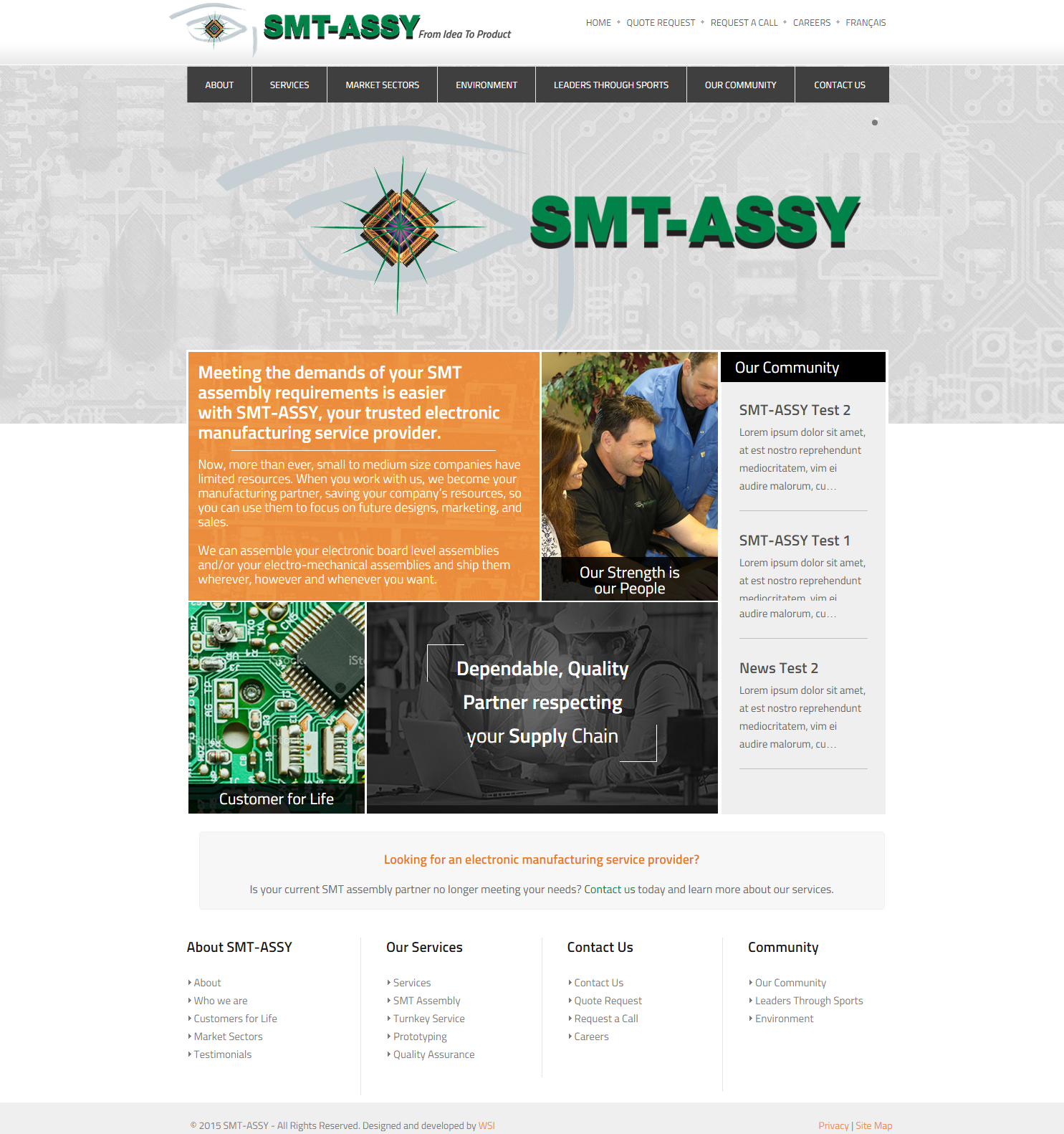 SMT-ASSY's Redesigned Website