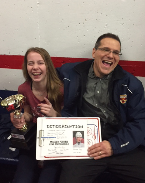 This Is Mackenzie King, She Is One Of The Best 2002 Goalies (hockey) In The Province...SMT-ASSY Sponsored Her Team For One Tournament In NH, USA.